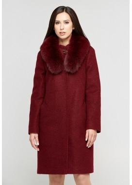 Пальто зимнее бордовое DANNA 1303