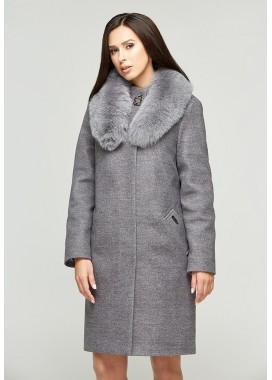 Пальто зимнее серое DANNA 1303