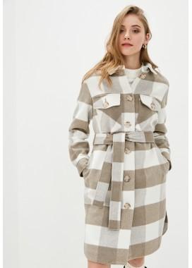 Пальто демисезонное бежевое DANNA 1701