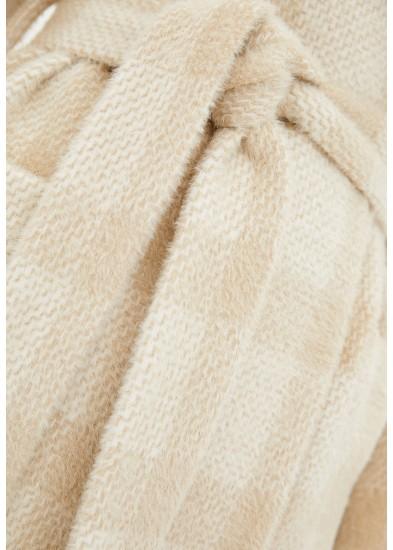 Пальто демисезонное бежевое DANNA 1703B
