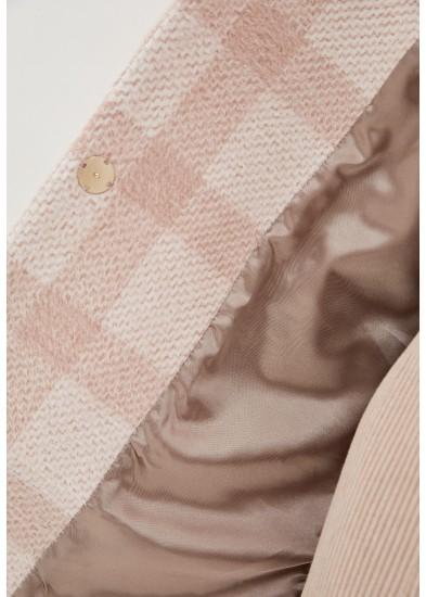 Пальто демисезонное розовое DANNA 1703B