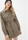 Пальто демисезонное коричневое DANNA 1711K
