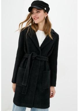 Пальто демисезонное черное DANNA 1715CH