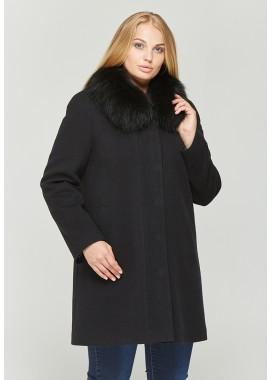 Пальто зимнее черное 315