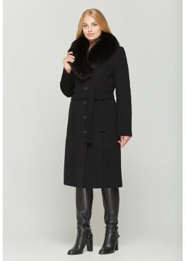 Пальто зимнее черное 539