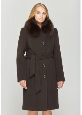 Пальто зимнее коричневое 559