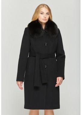 Пальто зимнее черное 559