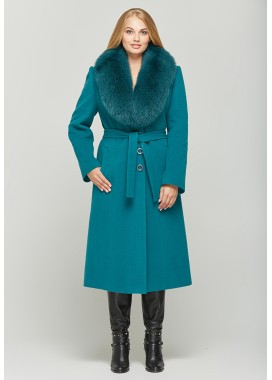 Пальто зимнее зеленое 157