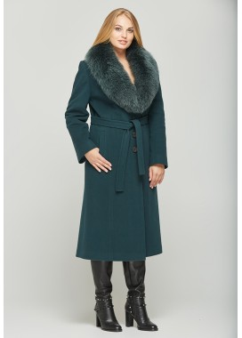 Пальто зимнее темно-зеленое 157