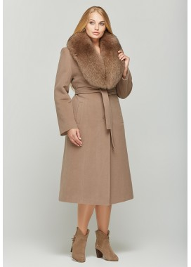 Пальто зимнее кофейное 157