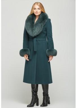 Пальто зимнее темно-зеленое DANNA 195