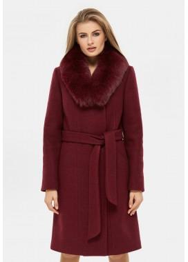 Пальто зимнее бордовое DANNA 1311