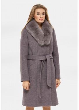 Пальто зимнее сиреневое DANNA 1311