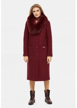Пальто зимнее бордовое DANNA 1321