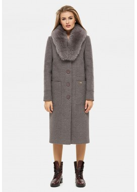 Пальто зимнее коричневое DANNA 1321