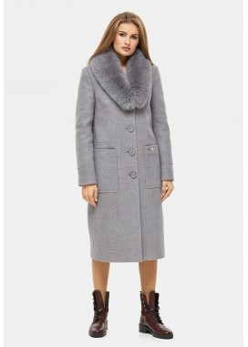 Пальто зимнее серое DANNA 1321