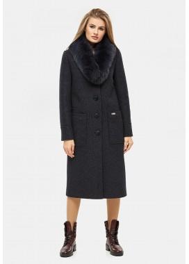 Пальто зимнее синее DANNA 1321