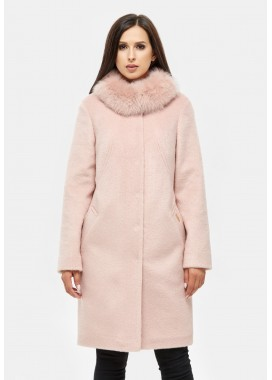 Пальто зимнее розовое DANNA 1307