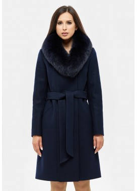 Пальто зимнее синее DANNA 1311