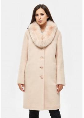Пальто зимнее бежевое  DANNA 1317
