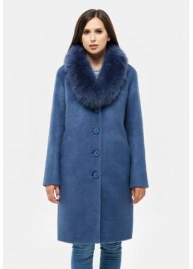 Пальто зимнее синее DANNA 1317