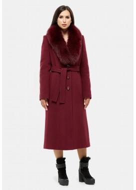 Пальто зимнее бордовое DANNA 179188