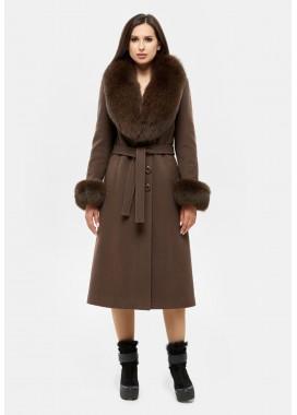Пальто зимнее коричневое DANNA 195