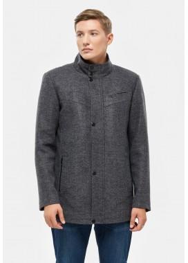 Пальто мужское демисезонное серое  DANNA  3001