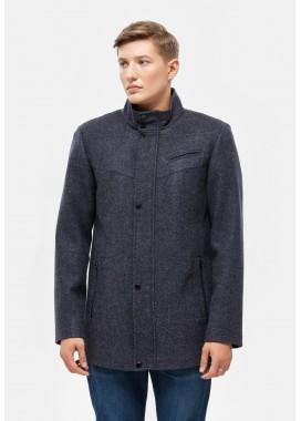 Пальто мужское демисезонное синее  DANNA  3001