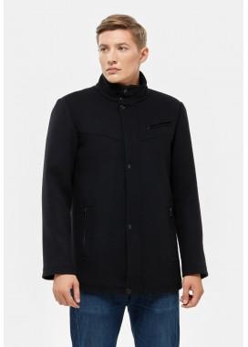 Пальто мужское демисезонное черное  DANNA  3001