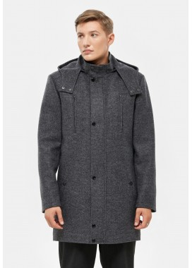 Пальто мужское демисезонное серое  DANNA  3003
