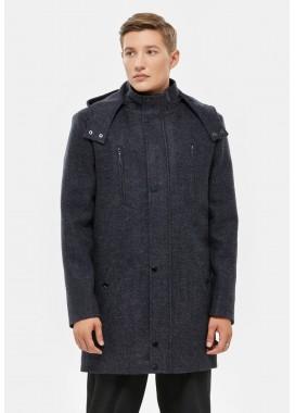Пальто мужское демисезонное синее  DANNA  3003