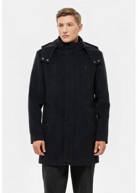 Пальто мужское демисезонное черное   DANNA  3003