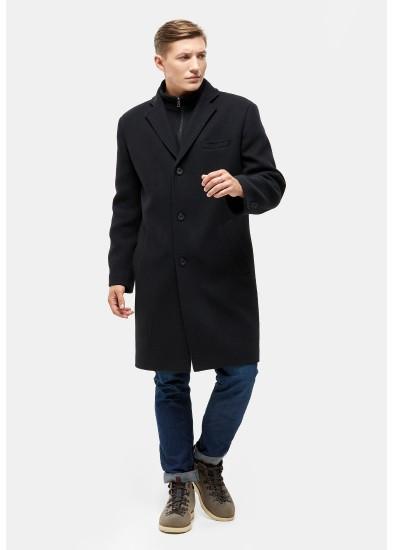 Пальто мужское демисезонное черное   DANNA  3005