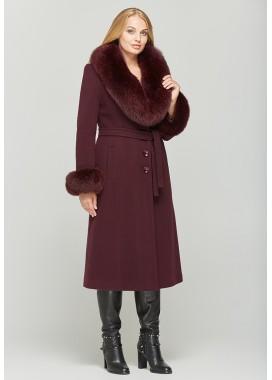 Пальто зимнее бордовое  DANNA 195