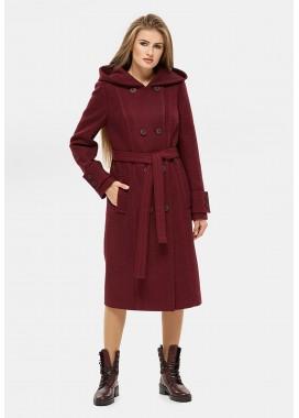 Пальто демисезонное DANNA бордовое 1103