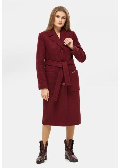 Пальто демисезонное бордовое DANNA 1121