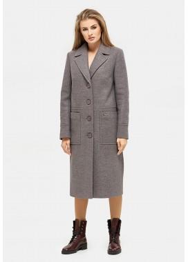 Пальто демисезонное коричневое DANNA 1121