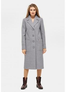 Пальто демисезонное серое DANNA 1121