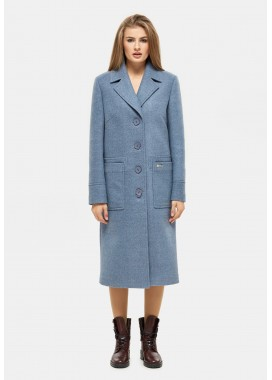 Пальто демисезонное голубое DANNA 1121
