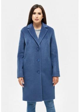 Пальто демисезонное синее DANNA 1117