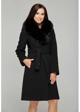 Пальто зимнее черное 091
