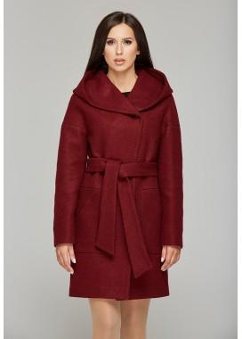 Пальто демисезонное бордовое DANNA 1105