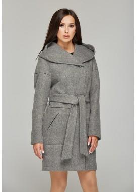 Пальто демисезонное серое DANNA  1105