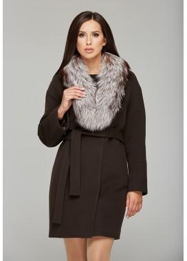 Пальто зимнее коричневое 1301