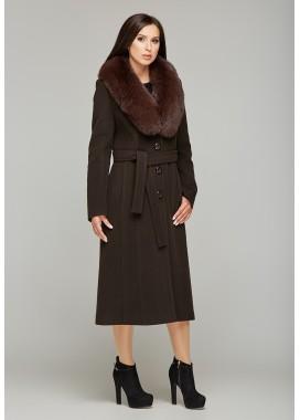 Пальто зимнее коричневый  DANNA 179