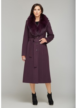 Пальто зимнее фиолетовое DANNA 179