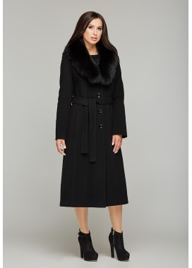 Пальто зимнее черное  DANNA 179