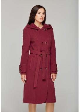 Пальто демисезонное бордовое  DANNA  575