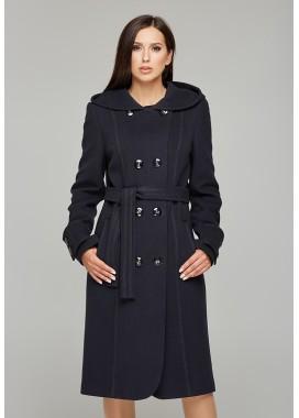 Пальто демисезонное синее DANNA  575